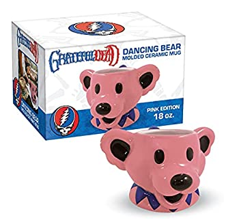 ICUP Grateful Dead Dancing Bears Mug   Large Bear Coffee Gift   Drinking Figurine Cup  Pink