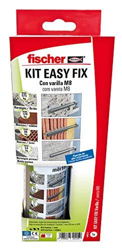 Fischer - Kit Easy Fix/Taco químico formato reducido Viniléster, Gris (545210)