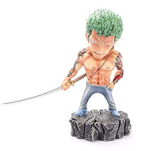 Anime Geschenke One Piece Mini Tattoo Domineering Ruffy Zoro Actionfigur, 17cm