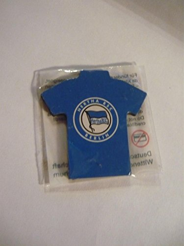 Magnet Button Fussball Bundesliga Trikot Hertha BSC Berlin - DB Gr. ca 40 x 40 mm O.V.P
