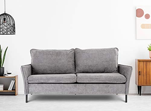 Sofa,Loveseat Couch Small Spaces Upholstered Modern Tufted Fabric for Living Room,Grey