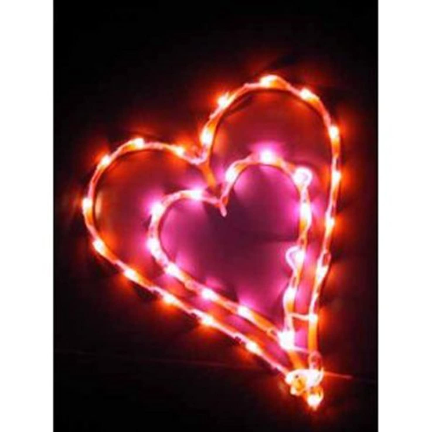 Valentine Double Heart Lighted Window Wall Decoration 16