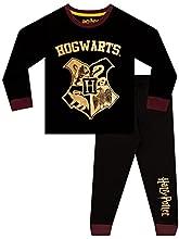 HARRY POTTER Pijamas para Niños Hogwarts Negro 10-11 Años