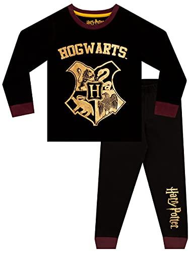 HARRY POTTER Pijamas para Niños Hogwarts Negro 11-12 Años