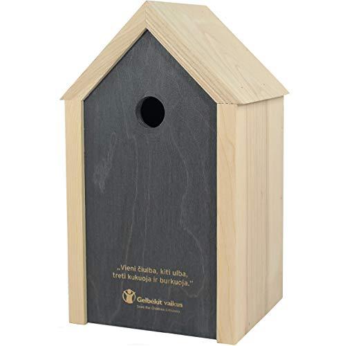 NEST TO NEST Nistkasten in modernem Stil für kleine Vögel I Vogelhaus Eichen Holz I Brutkasten für vögel I Einstiegsloch 2,8 cm I Premium Qualität