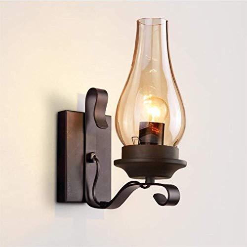 DINGYGJ lámpara de Aceite Linterna Antigua Rural E27 Edison lámpara de Pared del Granero Loft rústico de Steampunk Industrial de la Vendimia Creativa del Hierro del Metal Pasillo del ático lámpara de