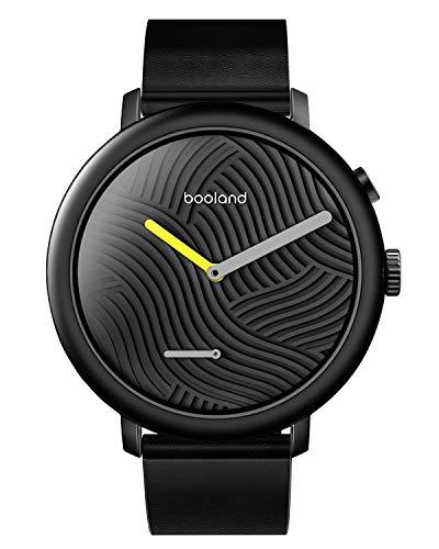 Booland Minimalist Smart Watch Hybrid Smartwatch Fitness Tracker for Men & Women - Black