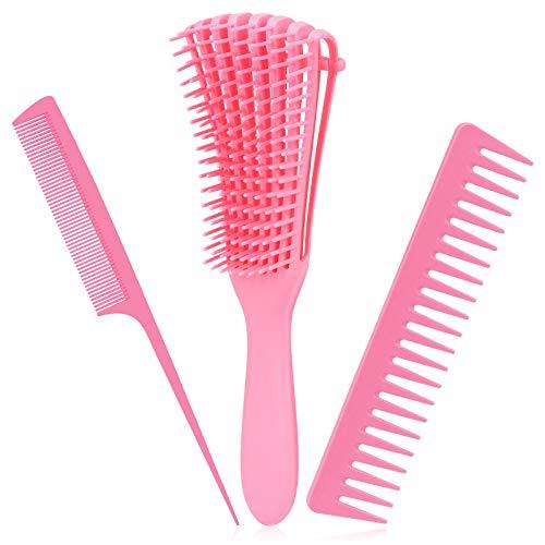 TOPTEAM spazzola districante per capelli naturali - pettine morbido districante per capelli afro da 3a a 4c capelli ondulati crespi ricci ricci spessi - facile da pulire e impugnare