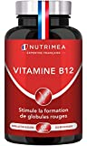 VITAMINE B12 VEGAN - 1000 µg de Cyanocobalamine, forme la plus stable - Nécessaire aux fonctions vitales, système nerveux, immunité - 60 gélules vegan - Fabriqué en France