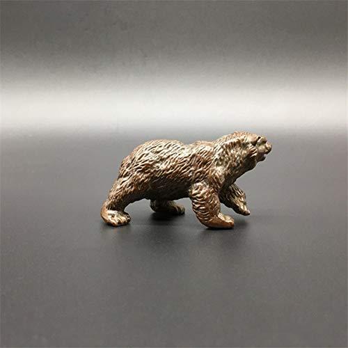 Preisvergleich Produktbild nobrand Antike Bronze Eisbär Statue Dekorationen Solide Kupfer Big Brown Bear Miniaturen Figuren Starke Tier Skulptur Tee Haustiere