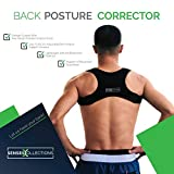 SENSESCOLLECTIONS Back Posture Corrector for Men and Women Discreet Under Clothes Comfortable and Effective Clavicle Brace for Neck Shoulder Back Pain Relief Fully Adjustable Spinal Brace for Slouching