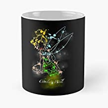 Tinkerbell Peter Pan Fairy Christmas Color Rainbow Princess Girl Love Beautiful Colorful Pirate Hook Happy Child Baby Cute C Great Novelty 11oz Gift Cups