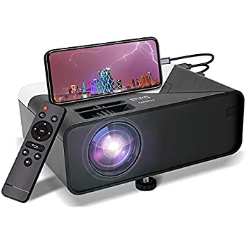 Mini Portable Projector 1080P-Supported for Outdoor - Native 720P Movie Projector Compatible with HDMI,USB,VGA,AV,DVD,TF Card,Laptop,200  Projection,50000 Hrs Lamp Lifetime,for Home Entertainment