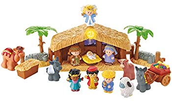 Fisher-Price Little People Christmas Story Brown Blue Green 12 months
