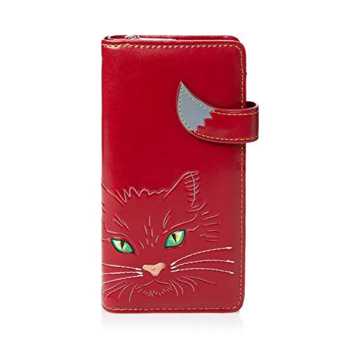SHAGWEAR ® Portemonnaie Geldbörse Damen Geldbeutel Mädchen Bifold Mehrfarbig Portmonee Designs: (Katze/Cats Eyes)