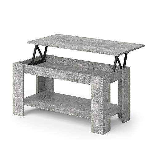 Vicco Couchtisch Lorenz höhenverstellbar Sofatisch Kaffetisch Wohnzimmer Tisch (Beton)