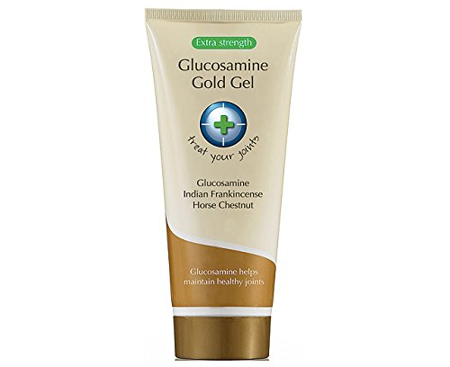 Glucosamine Gold Gel [7 Oz Tube] - Natural Pain Relief and anti inflammatory for Arthritis and Osteoarthritis:: contains Natural Anti-inflammatory Ingredients that Also Relieves Joint and Muscle Pain, Increases Joint Strength and Range of Motion, Bursitis, Tendonitis, Plantar Fasciitis, , Fibromyalgia, and Joint Inflammation - :::Drug-free and Paraben-free:::