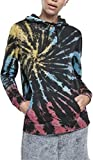 Urban Classics Ladies Tie Dye Hoody Sudadera con Capucha, Negro, 5XL para Mujer