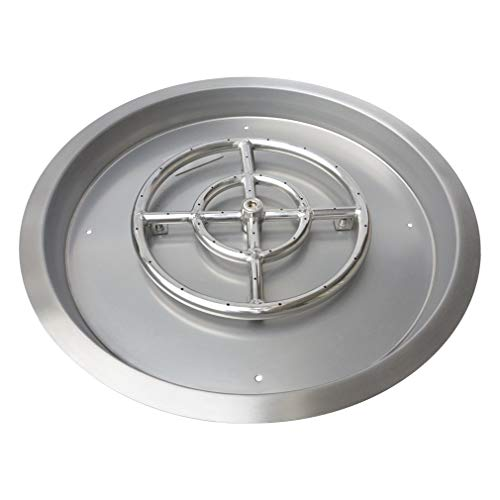 Stanbroil Round Stainless Steel Drop-in Fire Pit Burner Pan, 19 Inches (Renewed)
