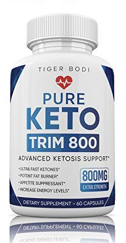Pure Keto Trim 800 Pill - Keto Trim Fit Fast Weight Loss Diet Pill Supplement for Energy, Focus - Exogenous Ketones for Rapid Ketosis - Ketogenic BHB for Men Women (60 Capsules)