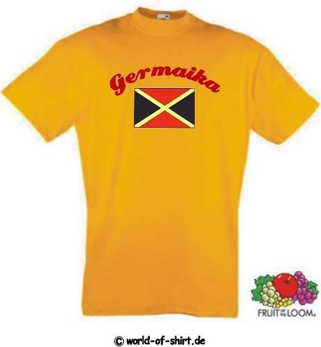 world-of-shirt Herren T-Shirt Jamaica / Germaika im Trikot Look