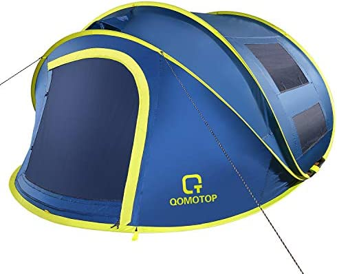 OT QOMOTOP 4 Person Pop up Tent 9 5 7 with 50 Center Height 10 Second Setup Instant Tent Rainproof product image