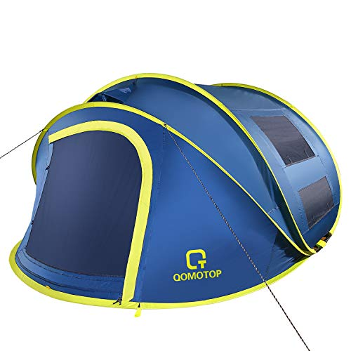 OT QOMOTOP 4 Person Pop up Tent, 9.5'×7' with...