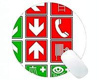 個人化されたコンパスの円形のマウスパッド魔法のコンパスは円形のマウスパッドに署名します