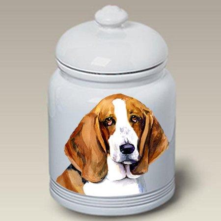 Sale!! Best of Breed Basset Hound - Barbara Van Vliet Ceramic Treat Jars
