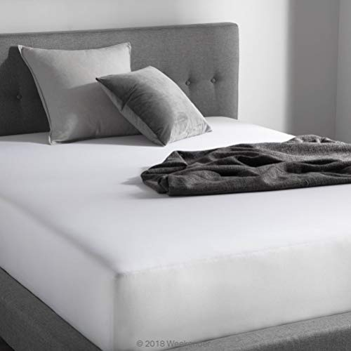 WEEKENDER 200 Thread Count Hotel Fitted Sheet-Cotton Rich Blend-White-Twin