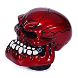 Bashineng Gear Stick Knob Skull Style Shift Head Replacement Shifter Fit Most Manual Automatic Cars (Red)