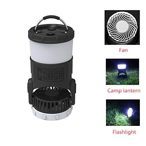 Campre Multifunctionele outdoor camping lantaarn tent met ventilator draagbare FM-radio muggenbescherming licht draagbare LED camping lantaarn met plafondventilator voor camping wandelen vissen