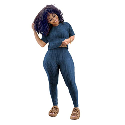 Birthday Outfits for Women 2 Piece Sets Cute Crop Top Skinny Long Pants Tracksuits