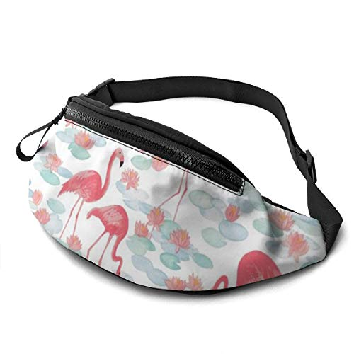 Gkf Waist Pack Bag for Men&Women, Flamingo Lake Utility Hip Pack Bag with Adjustable Strap for Workout Traveling Casual Running