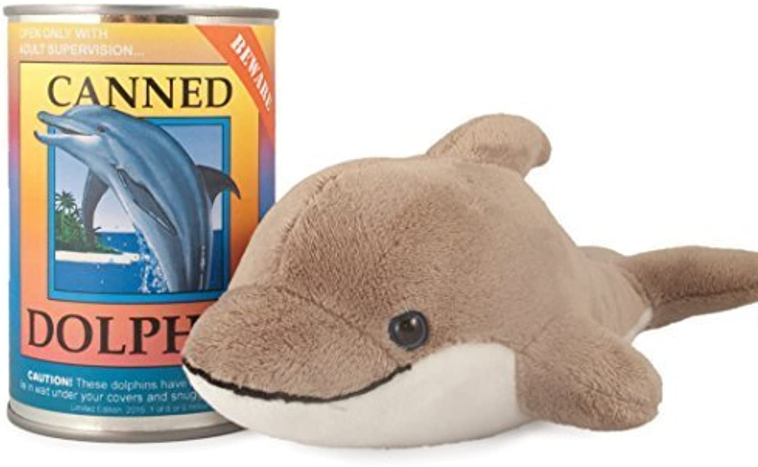 Canned Critters Stuffed Animal  Dolphin 6  by Northern Gifts