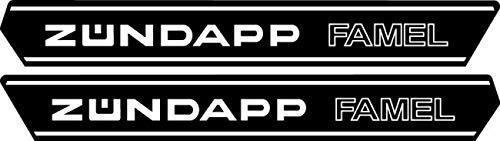 myrockshirt Zündapp Tank Aufkleber + Logo ca 30 cm Mofa Moped Roller Aufkleber,Sticker,Decal,Autoaufkleber,UV&Waschanlagenfest,Profi-Qualität
