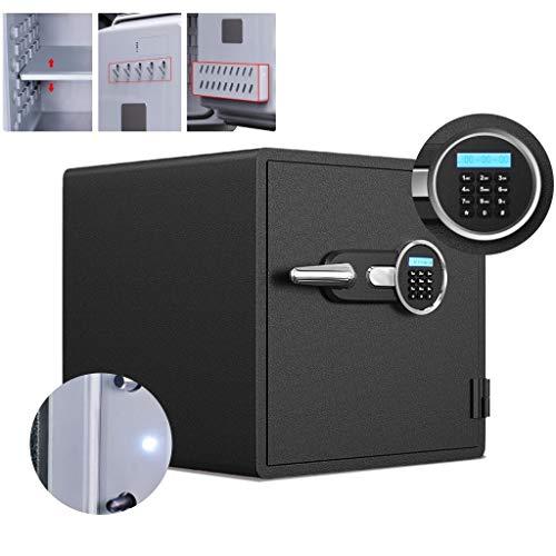 Brandvrije kluis Home anti-diefstal nachtkastje Wall-gemonteerde grote kluis Office elektronische opslag van wachtwoorden dossier doos (Color : Black, Size : 48 * 53 * 61cm)