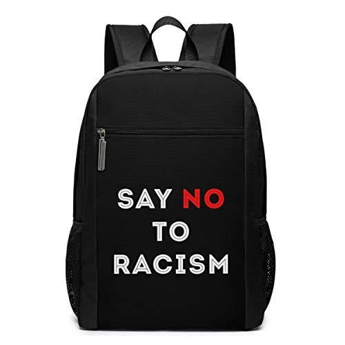 ZYWL Sag Nein zu Rassendiskriminierung Utra-Premium 17-Zoll-Reise-Laptop-Rucksack, Büchertasche, Business-Tasche