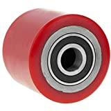 PrimeMatik - Rueda para transpaleta Rodillo de poliuretano de 80x70 mm...
