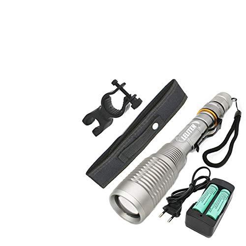 Antorchas de zoom XML-T6 L2 LED linterna Lámpara de zoom Lámpara de iluminación de antorcha Luz de bicicleta Lámpara de campamento Linterna Linterna Linterna Super Bright Bright (Body Color : T6)