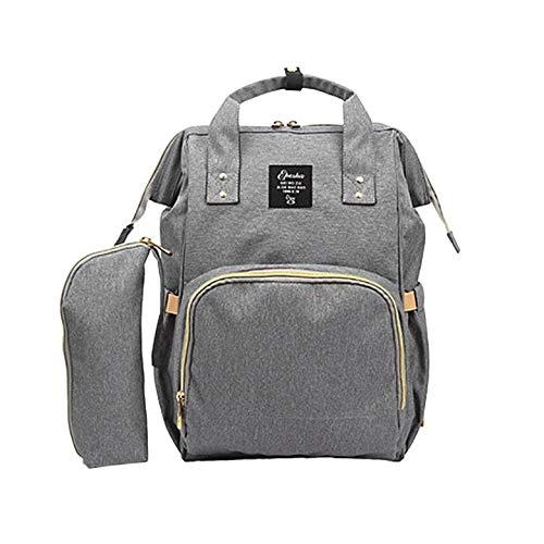 Mummy Bag, 2PCS / SET Gran capacidad para el cuidado del bebé multifuncional Mommy Backpack Diseño de moda Mommy Diaper Bag Nappy Bag