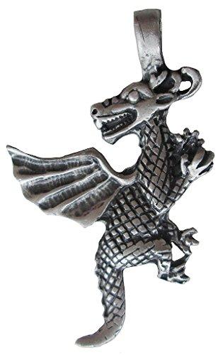 Ticila Unisex Uomo e Donna ciondolo cromo moda gioielli DRAGON Vecchio argento colore