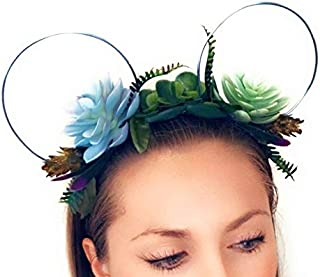 floral wire minnie ears