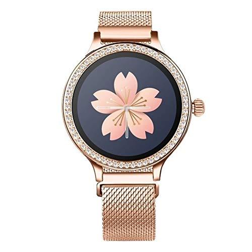 Xingyu - Reloj inteligente impermeable para mujer M8 Smart Watch IP68 Lady Smart Band Monitor de ritmo cardíaco Fitness Tracker Smartwatch Android Ios (color: metal dorado)