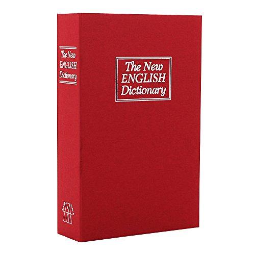 Rottner cassetta di sicurezza a Libro Rossa, con serratura a cilindro, ideale per biblioteca domestica di colore rosso
