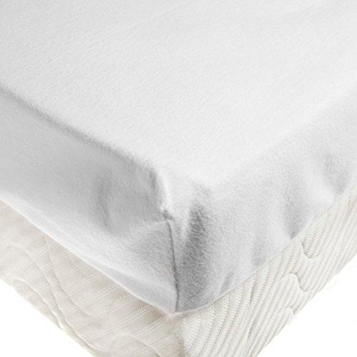 Tradition des Vosges Soldes Protège Matelas Drap-Housse Molleton Gratte 60 x 120 cm Bonnet de 30 cm Blanc