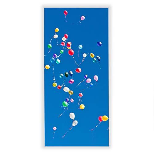 Banjado Wechselscheibe für IKEA GYLLEN Wandlampe | Glasscheibe für Wandleuchte 56x26cm | Echtglas Motiv Bunte Luftballons | Hochformat