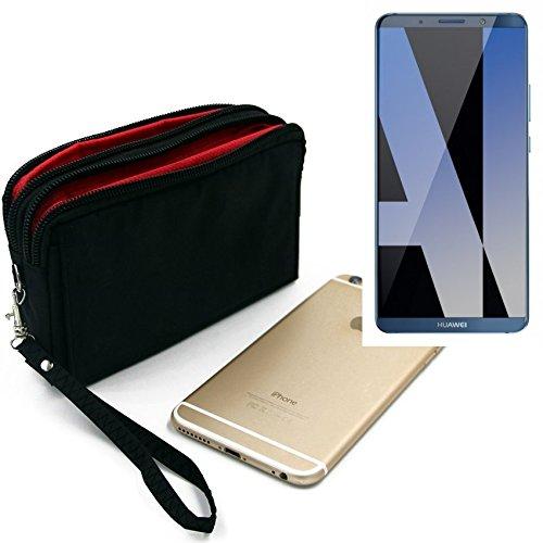 K-S-Trade Für Huawei Mate 10 Pro Dual SIM Gürteltasche Schwarz Travel Bag, Travel-Hülle Mit Diebstahlschutz Praktische Schutz-Hülle Schutz Tasche Holster Outdoor-case Für Huawei Mate 10 Pro Dual SIM