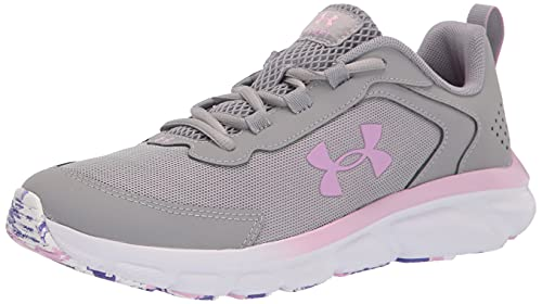 Under Armour girls Grade School Assert 9 Running Shoe, Gray Wolf (100 Pacific Purple, 3.5 Big Kid US