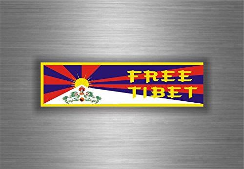 Akachafactory Aufkleber Sticker Auto Motorrad Flagge Tibet Free Tibetain Dalai Lama Buddha